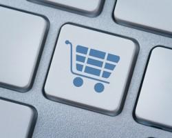 Shopping cart Symbol auf Tastatur